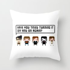 The IT Crowd Characters Throw Pillow