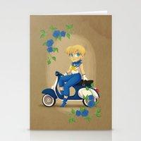 Retro Sailor Uranus Stationery Cards