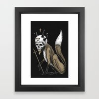 Kitsune Demon Fox Framed Art Print