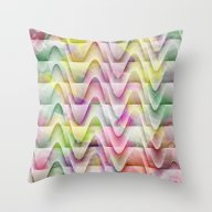 Throw Pillow featuring Textured Contours 1 by Janice Austin Design…