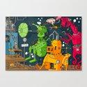 Robot Rampage Canvas Print