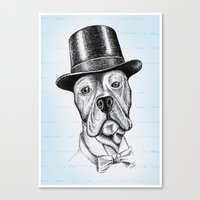 I'm too SASSY for my hat! Vintage Pup. Canvas Print