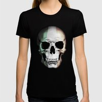 Irish Skull Womens Fitted Tee Black SMALL