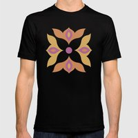 Spiced Swirls [Flower] Mens Fitted Tee Black SMALL