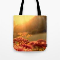Pink bulb in the Sunrise Tote Bag