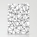 Abstract Heart Black on White Stationery Cards