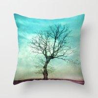 ATMOSPHERIC TREE II Throw Pillow