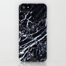 Real Marble Black Slim Case iPhone SE