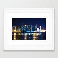 Alton, Illinois Mississippi River Factory Framed Art Print