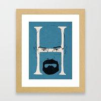 H is for Heisenberg Framed Art Print