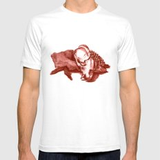 Sketchy Skull Mens Fitted Tee SMALL White