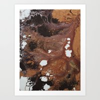 Copper abstract liquidity. Art Print