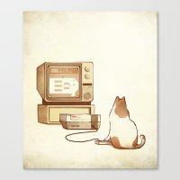 NES Cat  Canvas Print