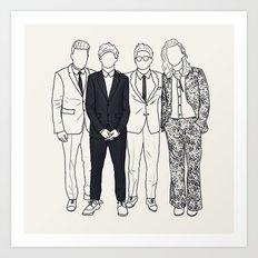 One Direction AMAs Art Print