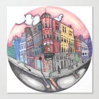 42 Building  Canvas Print