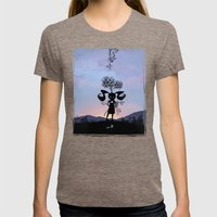 Poison Ivy Kid Womens Fitted Tee Tri-Coffee SMALL