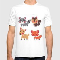 The Happy Forest Friend Mens Fitted Tee White SMALL