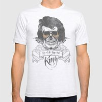 Elvis Presley | The King of the Living Dead Mens Fitted Tee Ash Grey SMALL