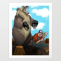 Man Vs Nature Art Print