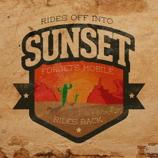 Rides Off Into Sunset Art Print