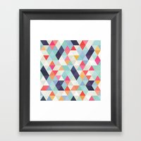 Geometric Cover Framed Art Print