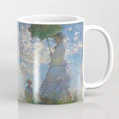 The Walk, Woman with a Parasol by Claude Monet Mug