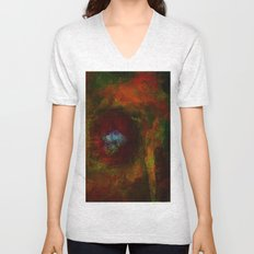 The cave of the shaman Unisex V-Neck