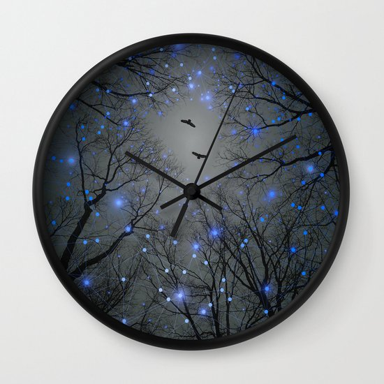 The Sight of the Stars Makes Me Dream (Geometric Stars Remix) Wall Clock