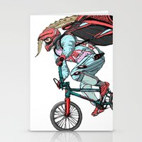 Extream biker Stationery Cards