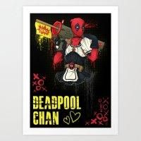 Dead Pool-chan Art Print