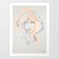 One Line Patti Smith Art Print