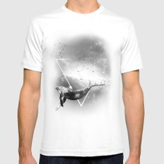 The Whale SMALL White Mens Fitted Tee