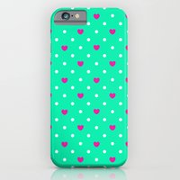 Polka hearts iPhone 6 Slim Case