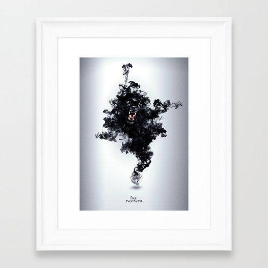 Ink Panther Framed Art Print