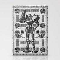 Metroid - Samus Aran Line Art Vector Character Poster Stationery Cards