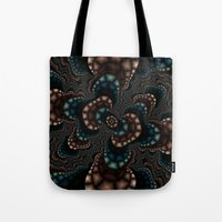 Fractal Rose Tote Bag