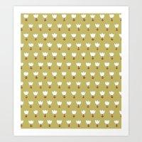White Tulips Natural Art Print