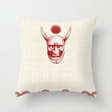 Oni over the sea Throw Pillow