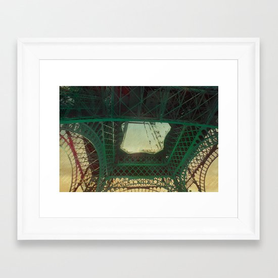 in the eye Framed Art Print