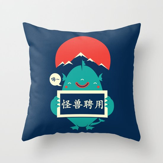 monster for hire Throw Pillow
