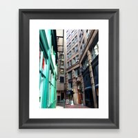 Vintage Alley Framed Art Print