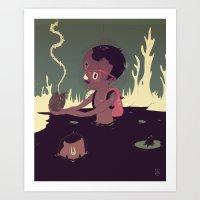 Black-water coconut Art Print