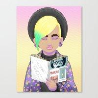 Girls Read Comics Too, G… Canvas Print