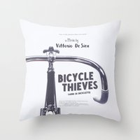Bicycle Thieves - Movie Poster for De Sica's masterpiece. Neorealism film, fine art print. Throw Pillow