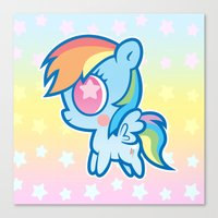 My little Rainbow Dash! Canvas Print
