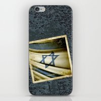 Israel grunge sticker flag iPhone & iPod Skin