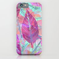 iPhone & iPod Case featuring Pink Leaves by Klara Acel