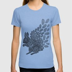 Squirrel Womens Fitted Tee Athletic Blue SMALL