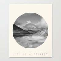 Life Is A Journey (Black & White) Canvas Print