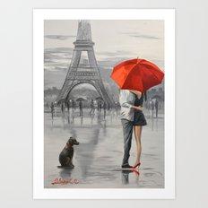 Paris For Two Art Print